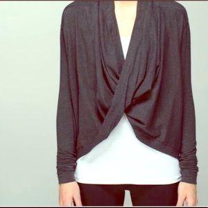 Lululemon Iconic wrap sweater gray